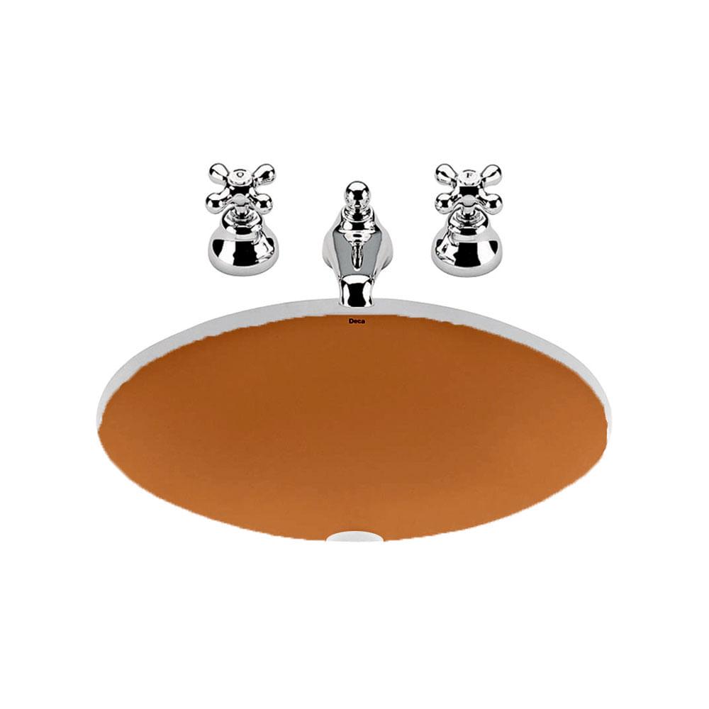 Cuba de Embutir Oval Caramelo 48,5×37,5cm L37  Deca  padovani -> Cuba Para Banheiro Caramelo