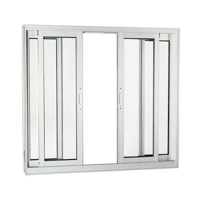 Janela-de-Aluminio-de-Correr-Aluminium-Branca-sem-Bandeira-sem-Divisao-sem-Grade-4-Folhas-120x150x9---Sasazaki