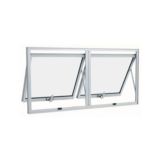 Janela-de-Aluminio-Maxim-Ar-Duplo-Alumifort-Branca-sem-Grade-2-Folhas-60x100x47---Sasazaki