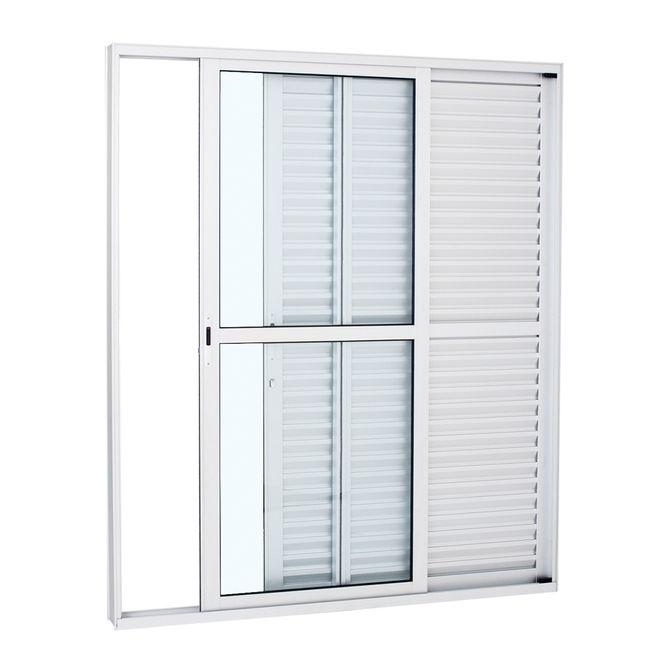 Porta-Balcao-de-Aluminio-de-Correr-Alumifort-Branca-3-Folhas-Abertura-Direita-216x160x13---Sasazaki