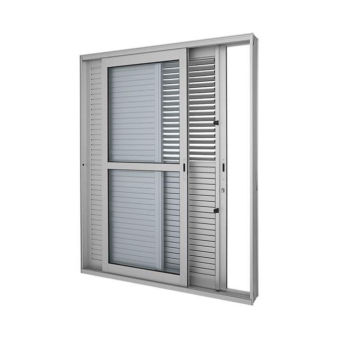 Porta-Balcao-de-Aluminio-de-Correr-Multiflex-Aluminium-Natural-3-Folhas-Abertura-Esquerda-216x160x17---Sasazaki