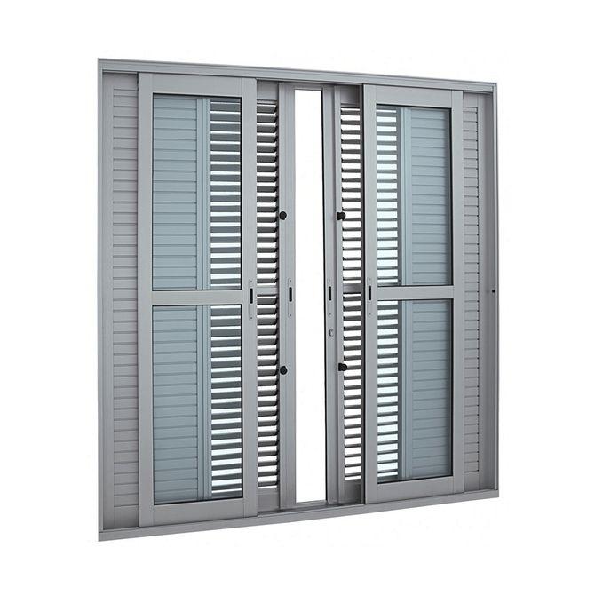 Porta-Balcao-de-Aluminio-de-Correr-Multiflex-Aluminium-Natural-6-Folhas-216x200x175---Sasazaki