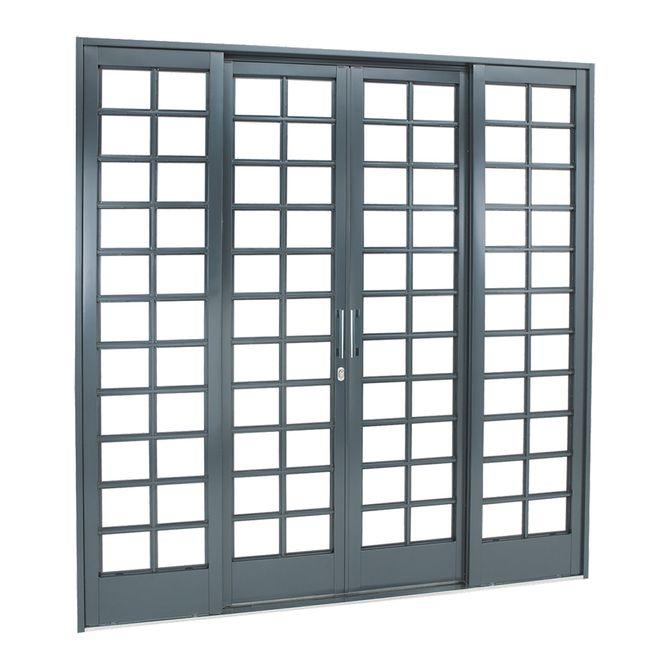 Porta-de-Aco-de-Correr-Belfort-Quadriculada-4-Folhas-217x200x12---Sasazaki