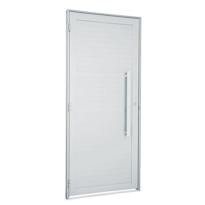 Porta-de-Aluminio-de-Abrir-Alumifort-Branca-com-Lambri-Horizontal-com-Puxador-1-Folha-Abertura-Direita-216x88x54---Sasazaki