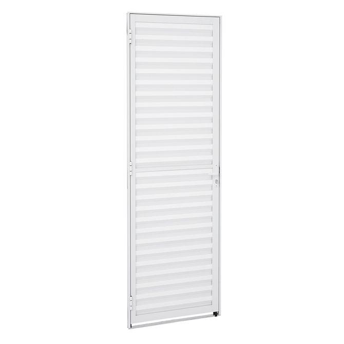 Porta-de-Aluminio-de-Abrir-Veneziana-Alumifit-Branca-1-Folha-Abertura-Direita-215x77x4---Sasazaki