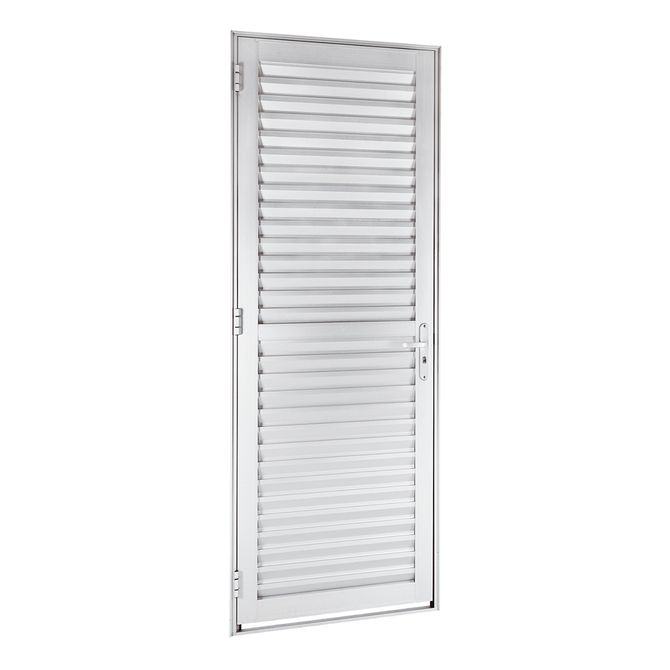 Porta-de-Aluminio-de-Abrir-Veneziana-Alumifort-Branca-1-Folha-Abertura-Direita-216x68x54---Sasazaki