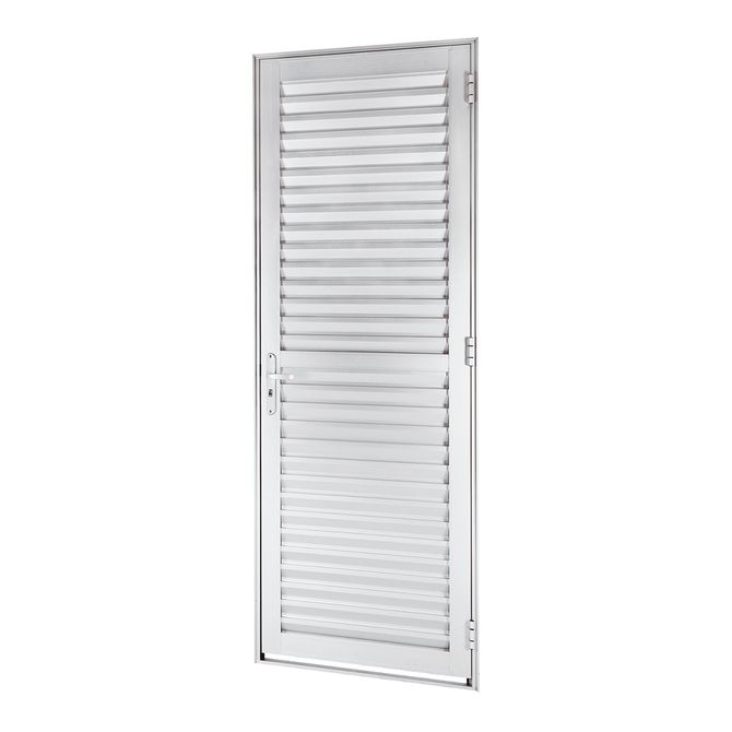 Porta-de-Aluminio-de-Abrir-Veneziana-Alumifort-Branca-1-Folha-Abertura-Esquerda-216x68x54---Sasazaki