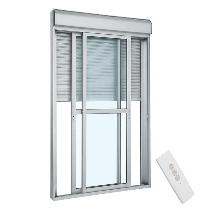Porta-de-Aluminio-de-Correr-Alumifort-Branca-Integrada-com-Controle-Remoto-110v-3-Folhas-237x150x14---Sasazaki