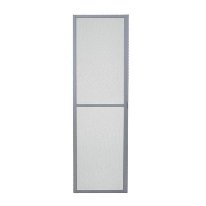 Tela-Mosquiteira-Porta-de-Correr-Aluminium-Natural-1-Folha-Abertura-Esquerda---Sasazaki