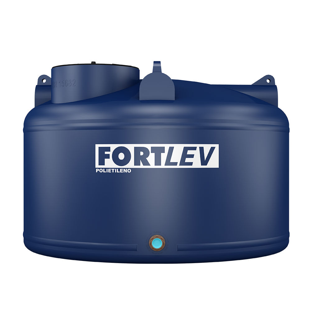Caixa d 39 gua tanque 5000l azul fortplus tampa rosca for Estanque de agua 5000 litros