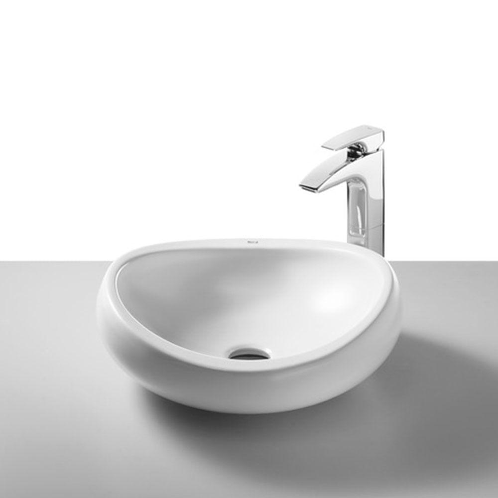 Cuba de Apoio Oval Branca 45x45cm Urbi  Roca  padovani -> Cuba Para Banheiro De Apoio Urbi Branca Roca