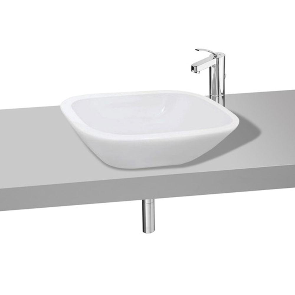 Cuba de Apoio Retangular Branca 47x35cm Nexo  Roca  padovani -> Cuba Para Banheiro Bloco