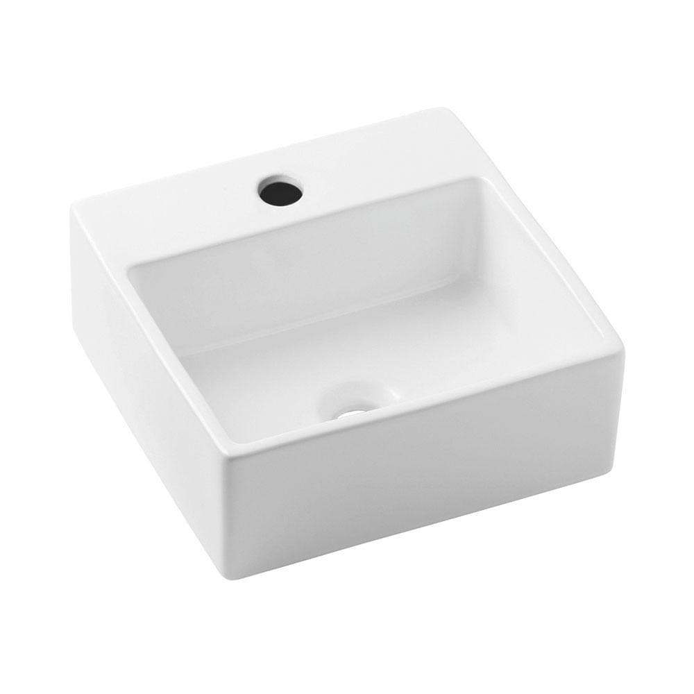 Cuba de Apoio Quadrada Branca 41x41cm Loft Q1  Incepa  padovani -> Cuba Para Banheiro De Apoio Thema Branca Incepa