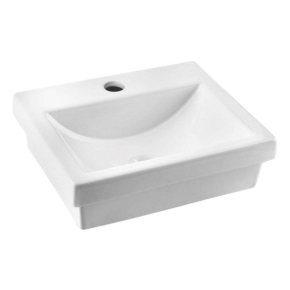 Cuba de Apoio Retangular Branca 41×34,5cm Loft Q7  Incepa  padovani -> Cuba Para Banheiro De Apoio Ocean Pacific Branca Incepa