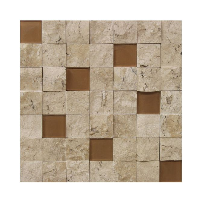 Placa-Natural-Stone-em-Marmore-Travertino-Bianco-e-Vidro-Bege-NS-115---Inova-Design