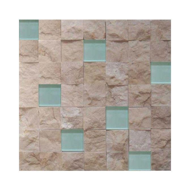 Placa-Natural-Stone-em-Marmore-Travertino-Bianco-e-Vidro-Branco-NS-120---Inova-Design