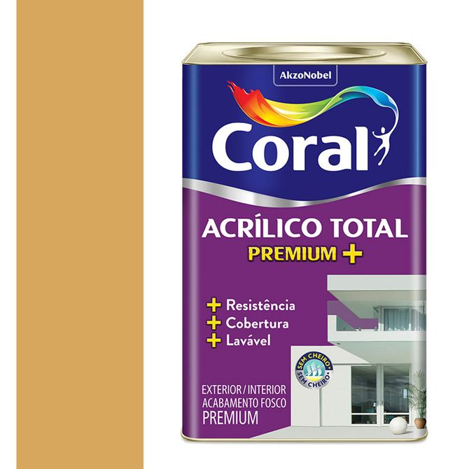 Tinta-Acrilica-Premium-Fosca-Acrilico-Total-Ocre-Colonial-18L---Coral