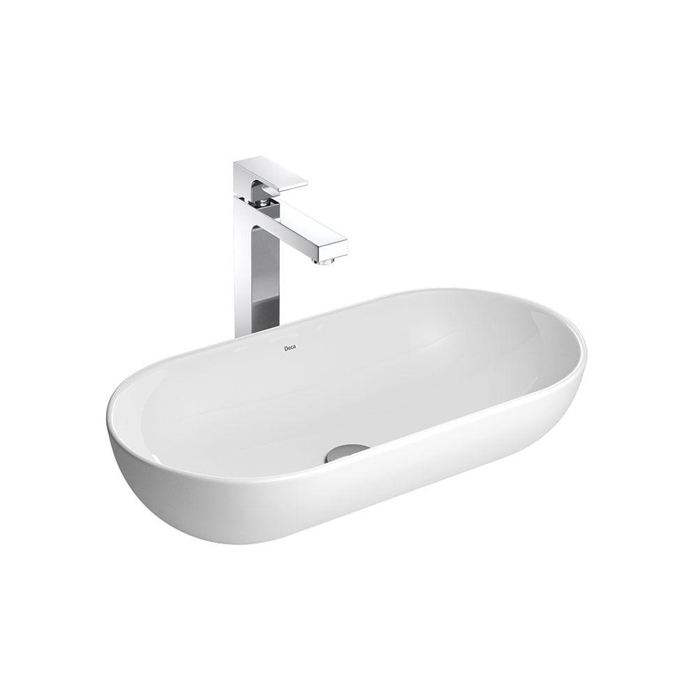 Cuba de Apoio Oval Branca 56x28cm L106  Deca  padovani -> Cuba Para Banheiro Deca Oval