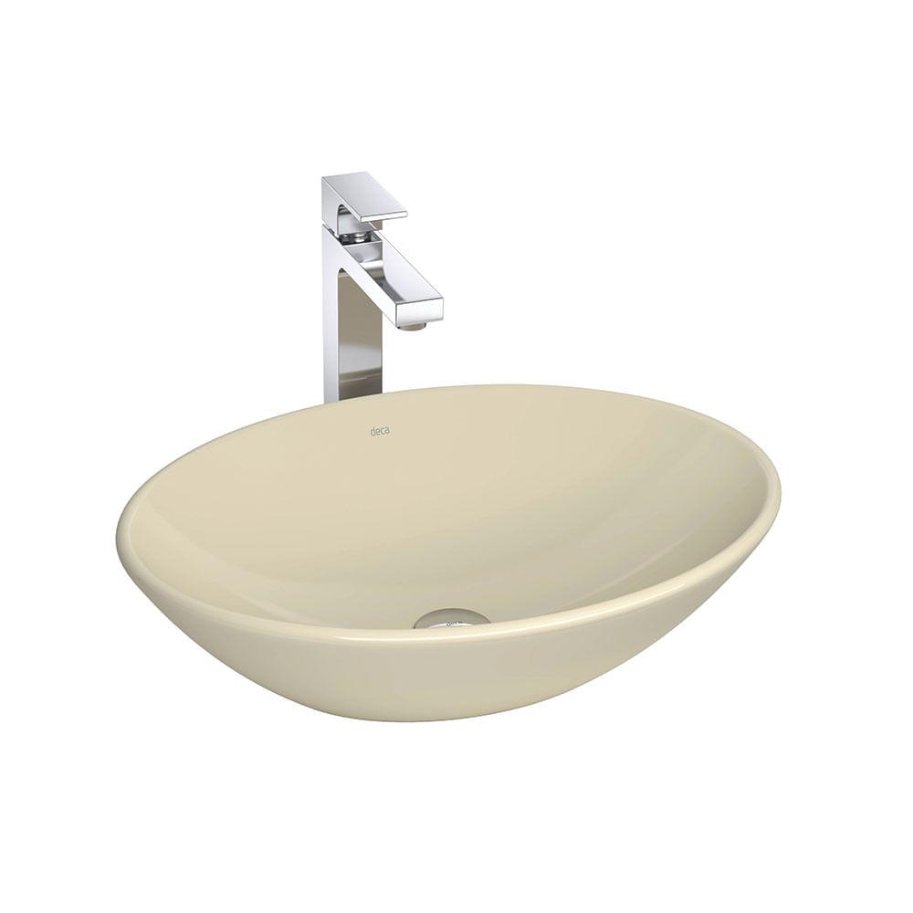 Cuba de Apoio Oval Creme 50x37cm L68  Deca  padovani -> Cuba Para Banheiro Deca Creme