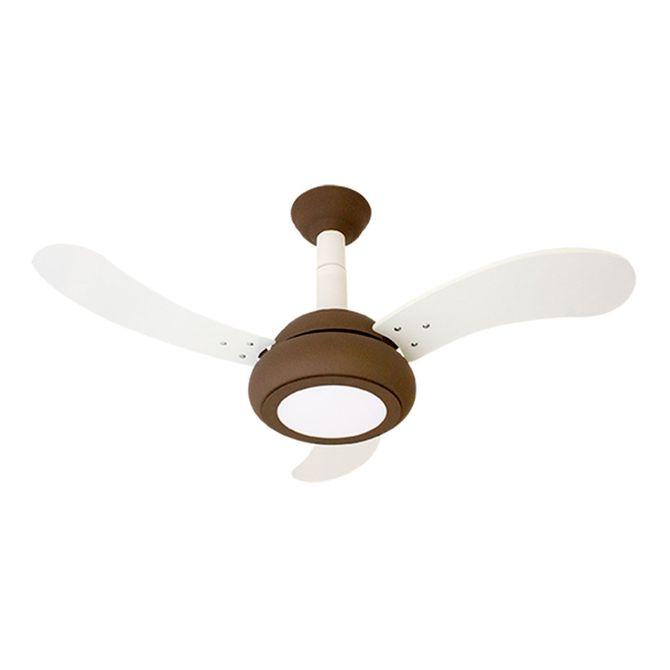 Ventilador-de-Teto-One-Led-Marrom-com-3-Pas-Branca---Ventidelta