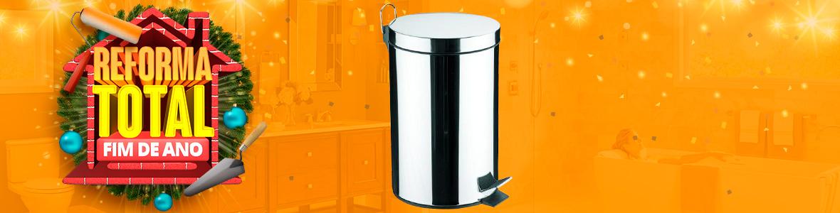 LIXEIRA INOX COM PEDAL E BALDE REMOVIVEL 3L - 94538/103 - TRAMONTINA