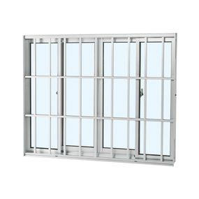 Janela-de-Aluminio-de-Correr-Alumifort-Branca-sem-Bandeira-sem-Divisao-com-Grade-Classic-4-Folhas-120x150x64---Sasazaki