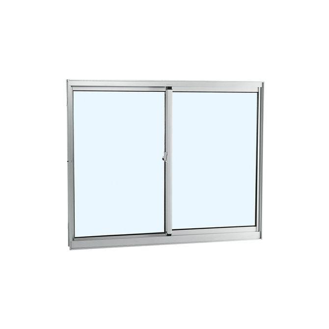 Janela-de-Aluminio-de-Correr-Alumifort-Branca-sem-Bandeira-sem-Divisao-sem-Grade-2-Folhas-Moveis-100x100x64---Sasazaki