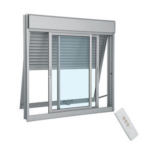 Janela-de-Aluminio-de-Correr-Aluminium-Branca-Integrada-com-Veneziana-Projetante-com-Controle-Remoto-220v-3-Folhas-120x120x14---Sasazaki
