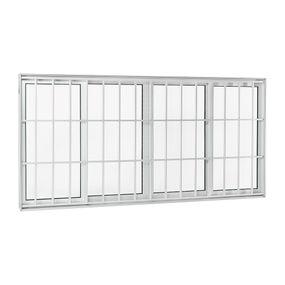 Janela-de-Aluminio-de-Correr-Aluminium-Branca-sem-Bandeira-sem-Divisao-com-Grade-Classic-4-Folhas-100x200x9---Sasazaki