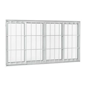 Janela-de-Aluminio-de-Correr-Aluminium-Branca-sem-Bandeira-sem-Divisao-com-Grade-Classic-4-Folhas-120x200x9---Sasazaki