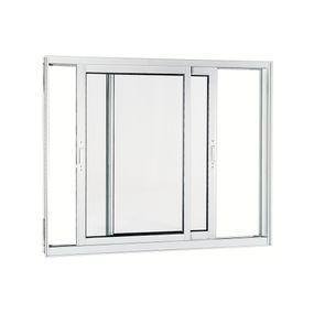 Janela-de-Aluminio-de-Correr-Aluminium-Branca-sem-Bandeira-sem-Divisao-sem-Grade-2-Folhas-Moveis-100x120x9---Sasazaki