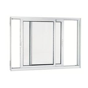 Janela-de-Aluminio-de-Correr-Aluminium-Branca-sem-Bandeira-sem-Divisao-sem-Grade-2-Folhas-Moveis-100x150x9---Sasazaki
