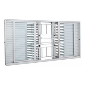 Janela-de-Aluminio-de-Correr-Multiflex-Aluminium-Branca-com-Grade-Classic-6-Folhas-100x200x14---Sasazaki