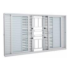 Janela-de-Aluminio-de-Correr-Multiflex-Aluminium-Branca-com-Grade-Classic-6-Folhas-120x200x14---Sasazaki