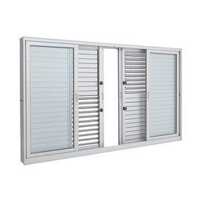 Janela-de-Aluminio-de-Correr-Multiflex-Aluminium-Branca-sem-Grade-6-Folhas-100x150x14---Sasazaki