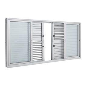 Janela-de-Aluminio-de-Correr-Multiflex-Aluminium-Branca-sem-Grade-6-Folhas-100x200x14---Sasazaki