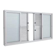 Janela-de-Aluminio-de-Correr-Multiflex-Aluminium-Branca-sem-Grade-6-Folhas-120x200x14---Sasazaki