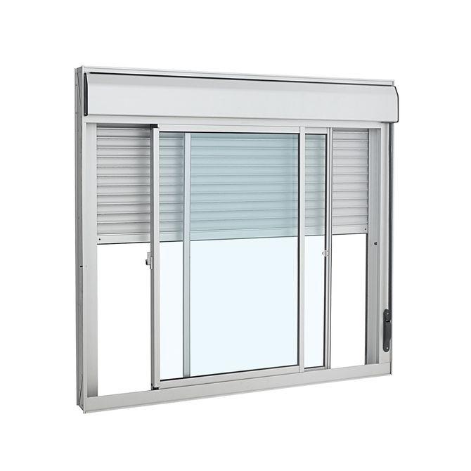 Janela-de-Aluminio-de-Correr-Veneziana-Alumifort-Branca-Integrada-3-Folhas-120x120x118---Sasazaki