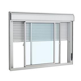 Janela-de-Aluminio-de-Correr-Veneziana-Alumifort-Branca-Integrada-3-Folhas-120x150x118---Sasazaki