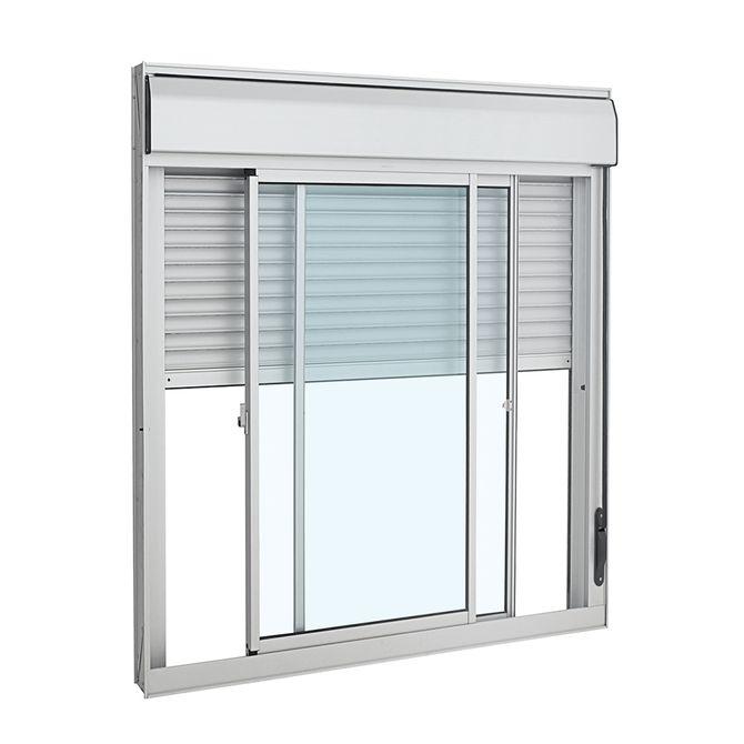 Janela-de-Aluminio-de-Correr-Veneziana-Alumifort-Branca-Integrada-3-Folhas-140x120x118---Sasazaki