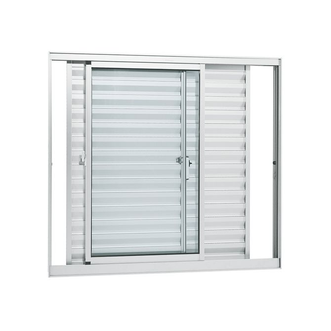 Janela-de-Aluminio-de-Correr-Veneziana-Alumifort-Branca-sem-Grade-3-Folhas-Moveis-120x120x87---Sasazaki