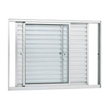 Janela-de-Aluminio-de-Correr-Veneziana-Alumifort-Branca-sem-Grade-3-Folhas-Moveis-120x150x87---Sasazaki