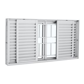 Janela-de-Aluminio-de-Correr-Veneziana-Aluminium-Branca-com-Grade-Classic-6-Folhas-100x200x12---Sasazaki