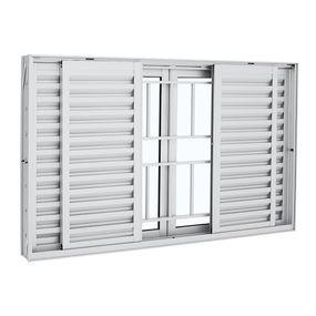 Janela-de-Aluminio-de-Correr-Veneziana-Aluminium-Branca-com-Grade-Classic-6-Folhas-120x200x12---Sasazaki