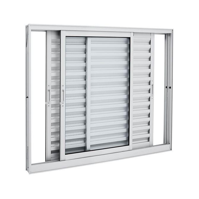 Janela-de-Aluminio-de-Correr-Veneziana-Aluminium-Branca-sem-Grade-3-Folhas-Moveis-120x120x12---Sasazaki