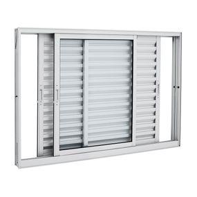 Janela-de-Aluminio-de-Correr-Veneziana-Aluminium-Branca-sem-Grade-3-Folhas-Moveis-120x150x12---Sasazaki