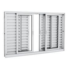 Janela-de-Aluminio-de-Correr-Veneziana-Aluminium-Branca-sem-Grade-6-Folhas-100x150x12---Sasazaki