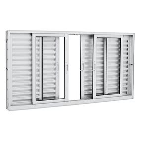 Janela-de-Aluminio-de-Correr-Veneziana-Aluminium-Branca-sem-Grade-6-Folhas-100x200x12---Sasazaki