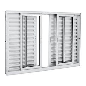 Janela-de-Aluminio-de-Correr-Veneziana-Aluminium-Branca-sem-Grade-6-Folhas-120x150x12---Sasazaki