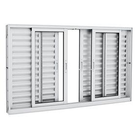 Janela-de-Aluminio-de-Correr-Veneziana-Aluminium-Branca-sem-Grade-6-Folhas-120x200x12---Sasazaki
